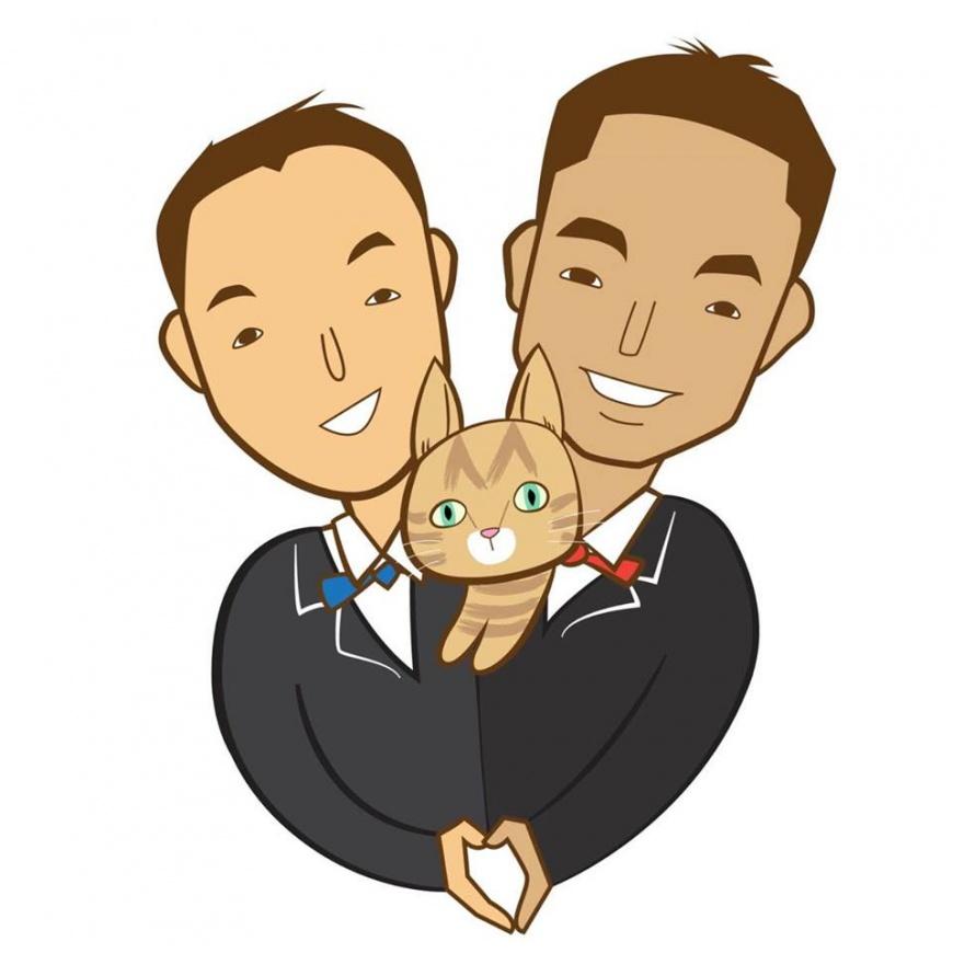 ▲圖片來源/李又宗提供   兩人結婚的肖像畫。