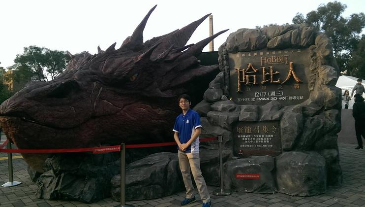熱愛電玩的聶寶這幾年都在台北電玩展擔任工讀生