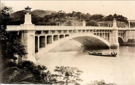 ▲日治時期明治橋,台北市文獻會 提供。