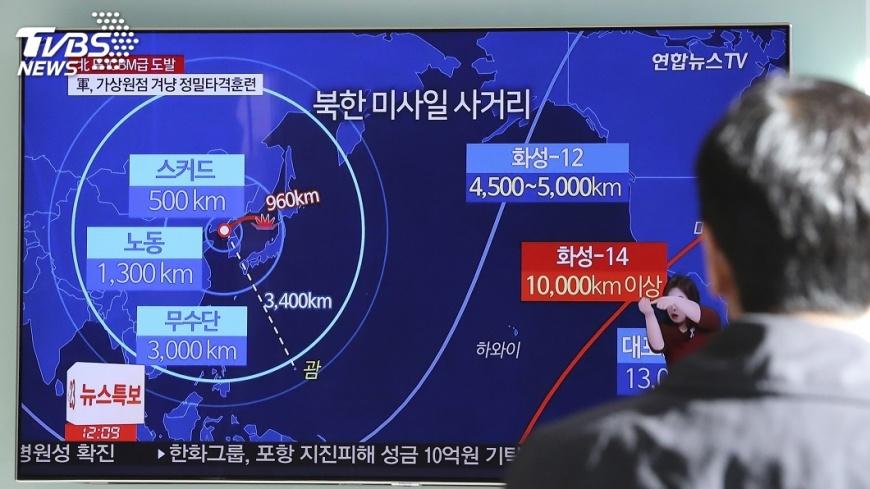 圖/達志影像美聯社 北韓再射飛彈!  視川普狠招如無物