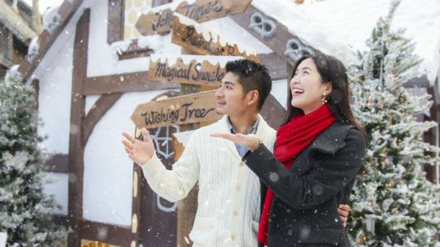 六福村提供 這家樂園夢幻飄雪!穿紅白綠門票6折