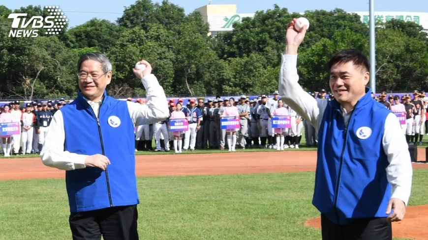 圖/中央社 兩岸學生棒球決賽登場 用棒球交朋友
