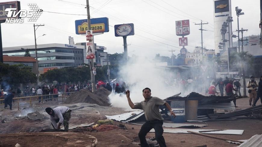 圖/達志影像美聯社 總統大選後暴力 宏都拉斯宣布緊急狀態