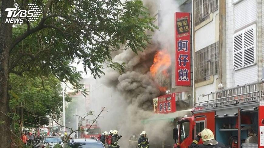 圖/TVBS 嘉市住宅火警1死3傷 起火原因調查中