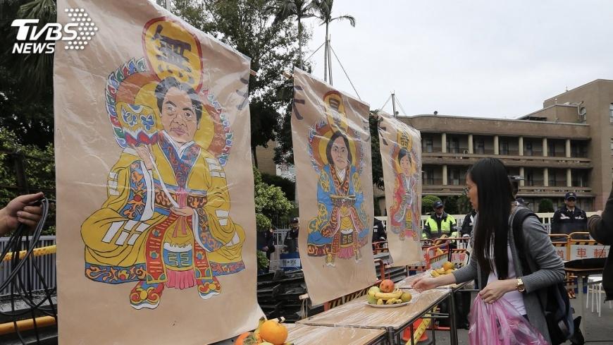 圖/中央社 勞團4日立院前抗議  籲勿通過勞基法修法