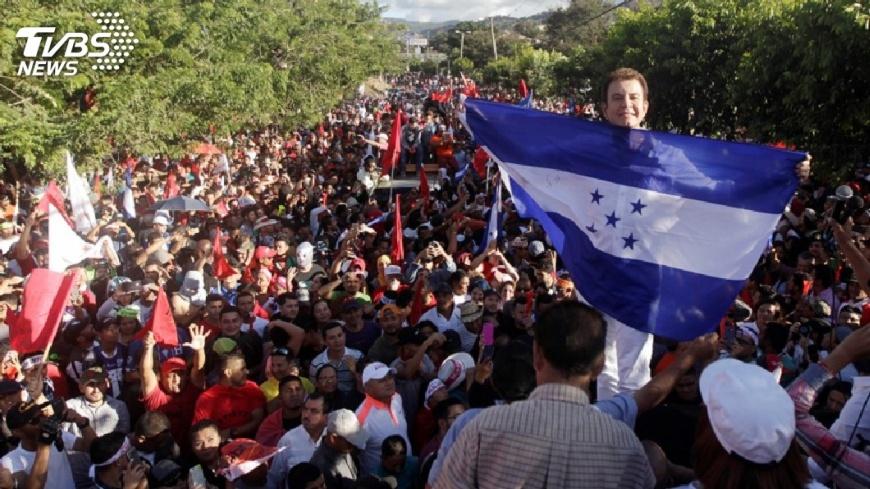 圖/達志影像路透社 宏都拉斯重新計票 數千人上街抗議舞弊
