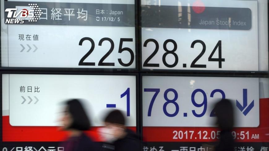 圖/達志影像美聯社 美科技股賣壓沉重波及 日經指數跌