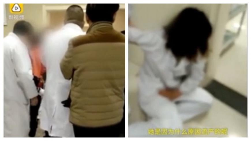 圖/擷取自梨視頻 拔針弄痛她兒 懷孕護理師遭官員妻爆打恐流產