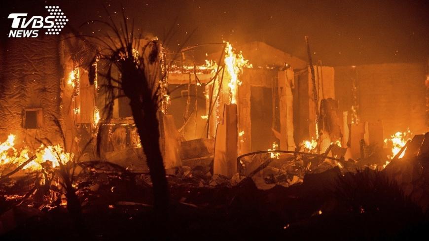 圖/達志影像美聯社 加州史上第5大野火 脫口秀主持人急撤