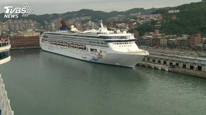 圖/TVBS資料畫面 來台旅客破千萬 賴揆:遊輪客是未來方向