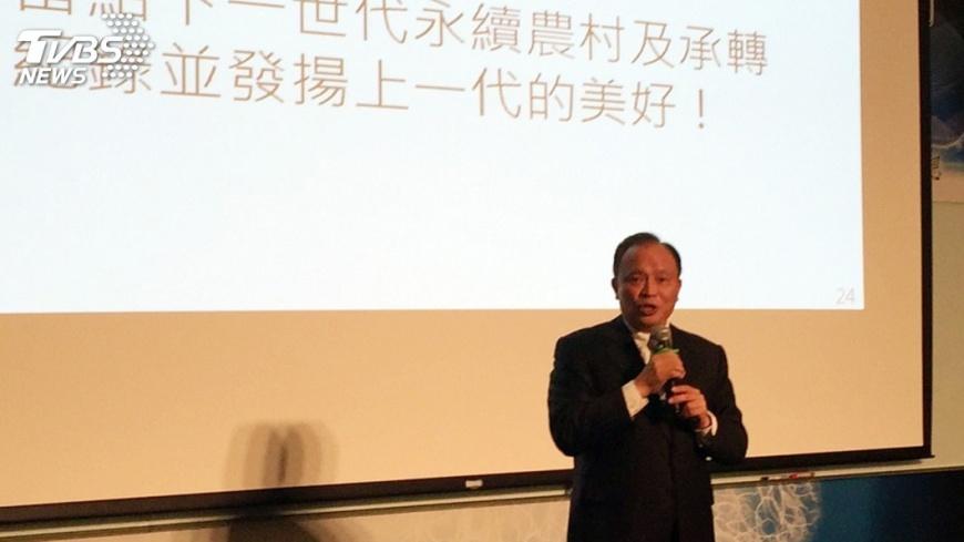 圖/中央社 林聰賢:仍談農地蓋農舍 農業沒機會了