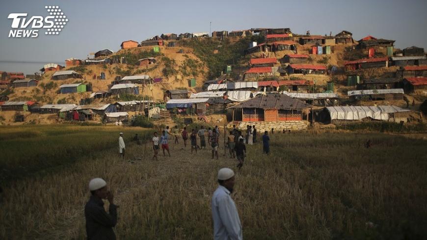 圖/達志影像美聯社 印度緬甸簽約 在若開邦建屋助難民返鄉