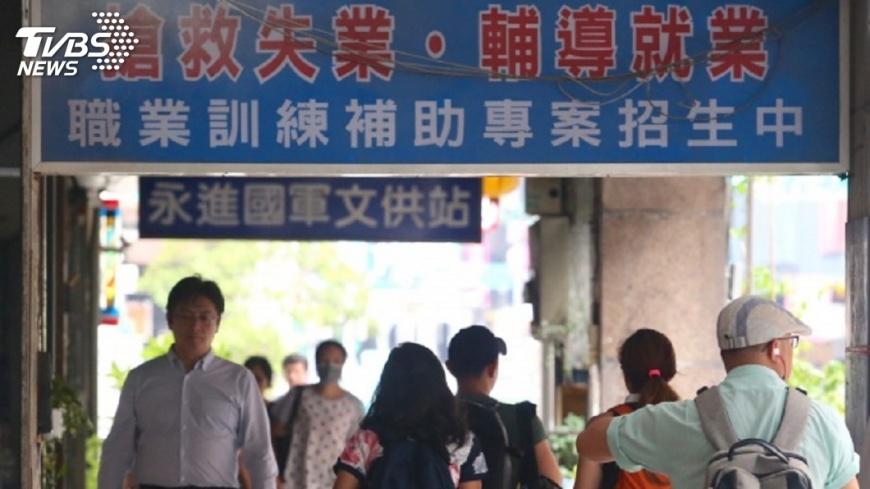 圖/中央社 11月失業率降至3.71% 17年來同月最低
