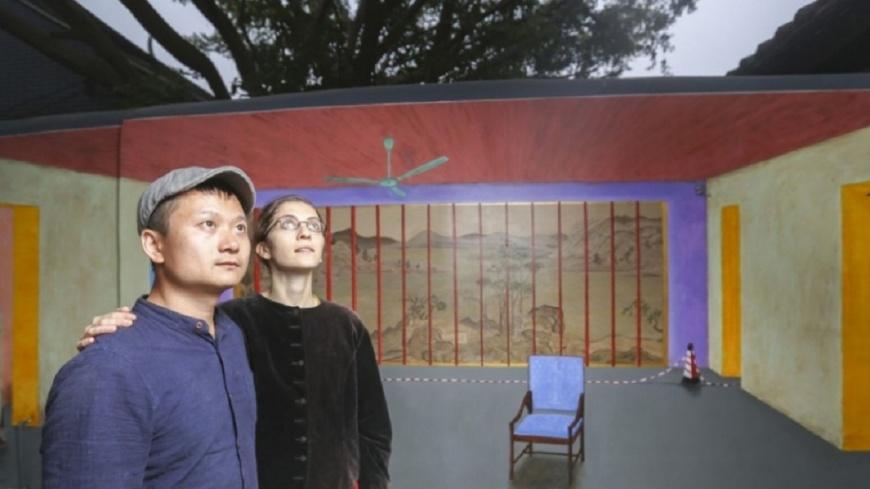 陸展覽畫劉曉波空椅 畫家夫婦失蹤一週