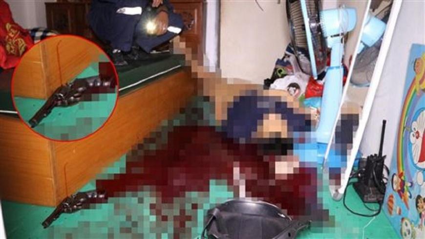翻攝/泰國世界日報 女友巧遇前男友 警竟吃醋舉槍自轟亡