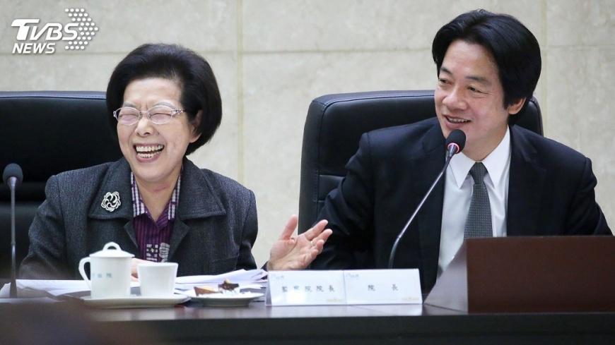 圖/中央社 監院巡察政院 張博雅與賴清德互虧缺席