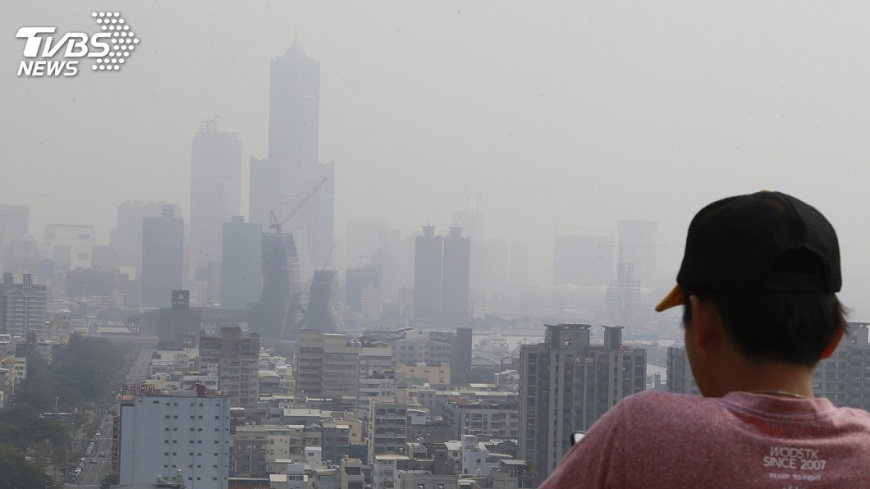 圖/中央社 中南部空氣品質差 高屏又陷「紅害」