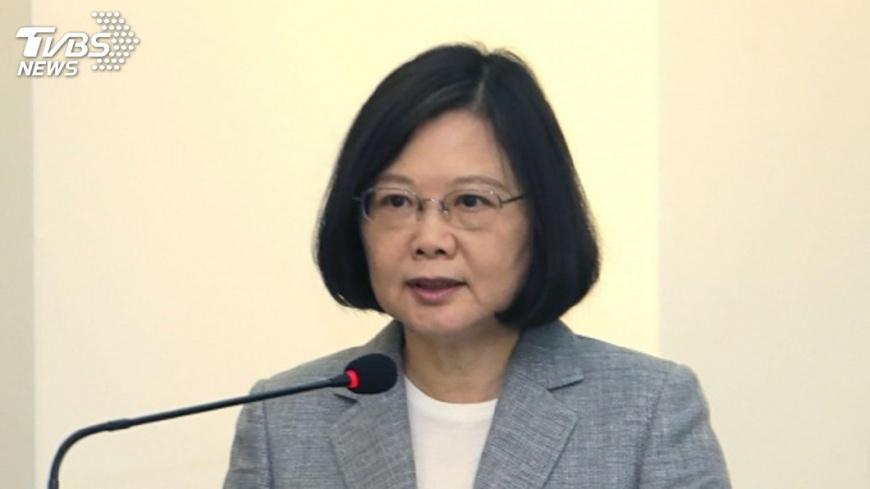 圖/中央社 國防預算將每年穩定成長 蔡總統致詞全文