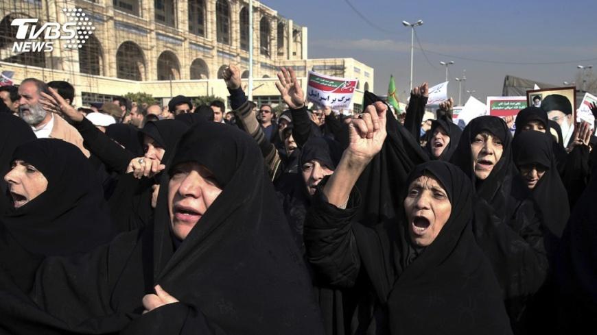 圖/達志影像美聯社 伊朗反政府示威延燒 警遇襲1死3傷