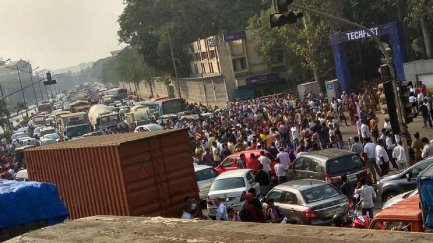賤民擴大示威 印度南部馬省多地癱瘓