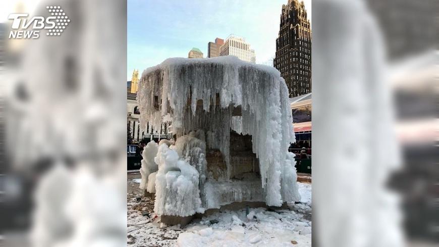 圖/中央社 暴風雪籠罩美東 紐約市宣布4日停課