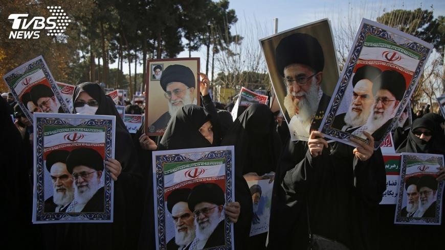 圖/達志影像美聯社 川普力挺示威者 伊朗怒控美國干涉內政