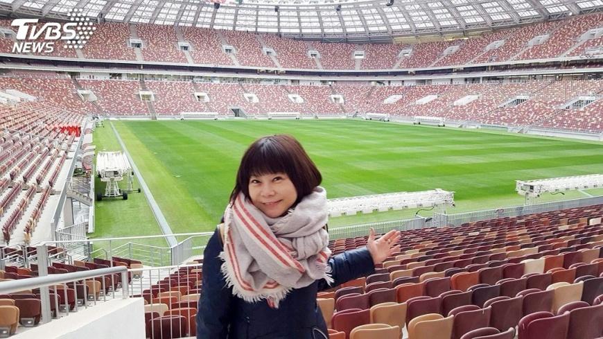 圖/TVBS 首家進入世足賽的台媒 TVBS錢怡君、謝賢熺前進俄羅