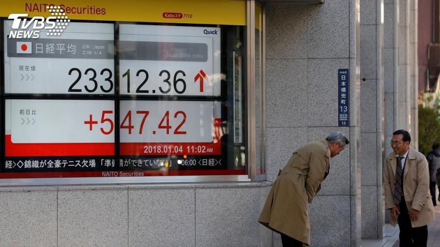 圖/達志影像路透社 日股開年首日大漲3.26% 收在26年新高