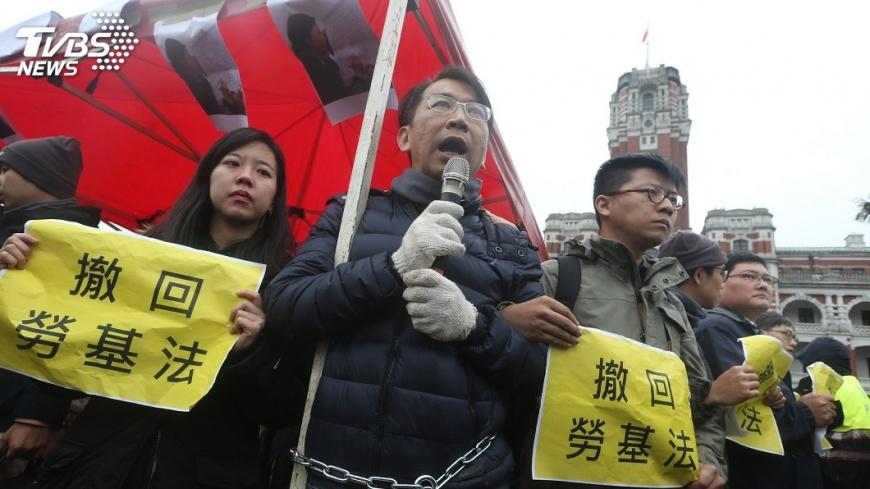 圖/中央社 時力凱道抗議 吳釗燮:最重要回議場討論