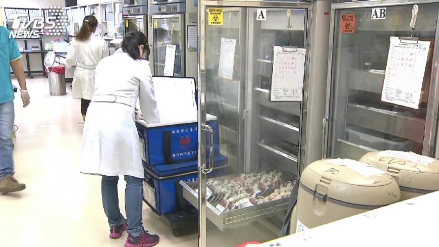 圖/TVBS 寒流流感夾擊 全台血量剩5.4天