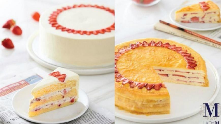 圖/Lady M提供 台灣才有!這款草莓千層蛋糕全球獨賣