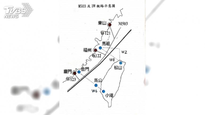 圖/中央社 瑞媒刊谷瑞生專文 M503航線傷兩岸關係