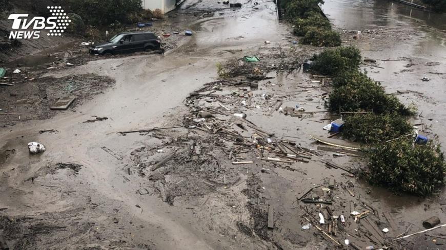 圖/達志影像美聯社 加州土石流增至20死 搜救仍持續