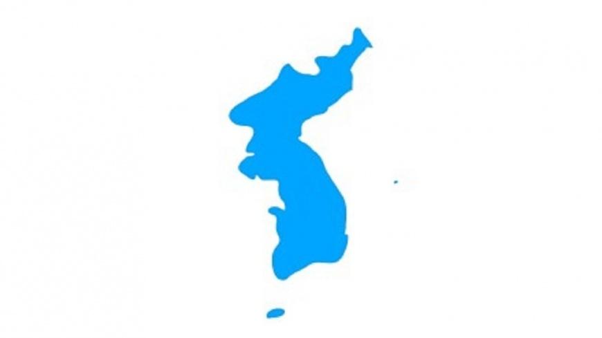 圖/微博 兩韓平昌開幕式 使用韓半島旗共同進場