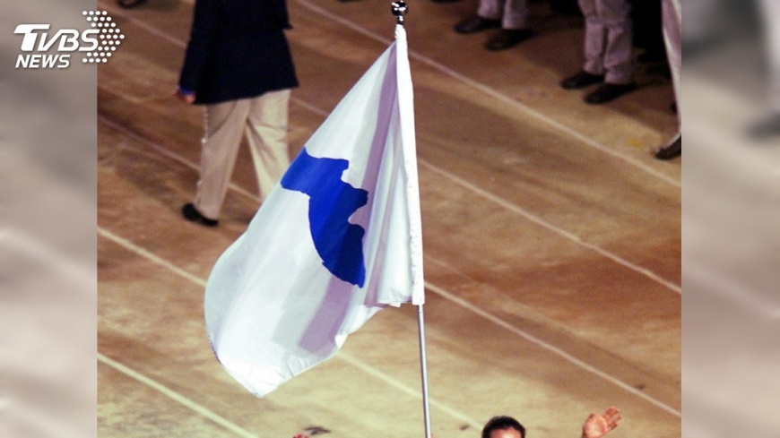 圖/達志影像美聯社 平昌冬奧兩韓舉旗進場 南韓民眾意見分歧