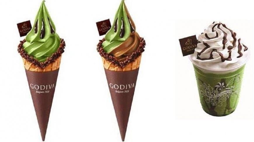 GODIVA提供 黑巧克力+鹿兒島抹茶 GODIVA推濃厚系霜淇淋