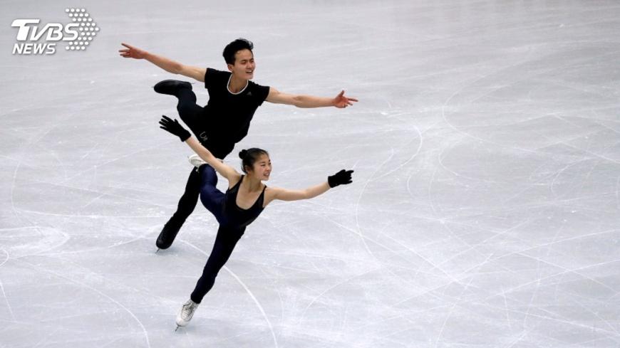 圖/達志影像路透社 來台參賽備戰冬奧 北韓滑冰組合現身練習