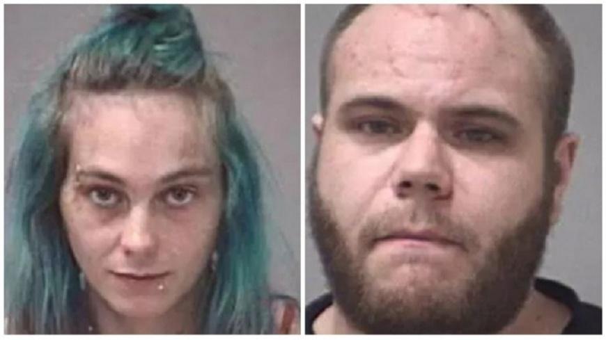 迪亞茲和菲爾德斯涉嫌虐死4歲女童。圖/翻攝自Michigan Police Department 浴缸全是「溶化人皮」!狠媽燙死4歲女 辯精神病想脫罪