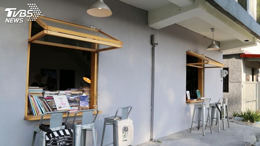 圖/中央社 不賣書的書店 改變小村莊風景