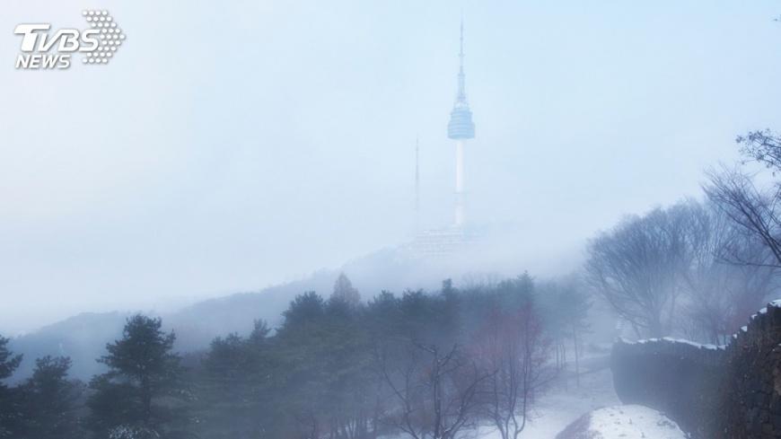 示意圖/TVBS 急凍南韓! 首爾體感攝氏零下22.7度