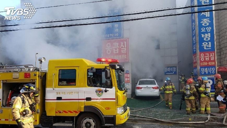圖/達志影像美聯社 南韓醫院急診室大火 33死60多傷