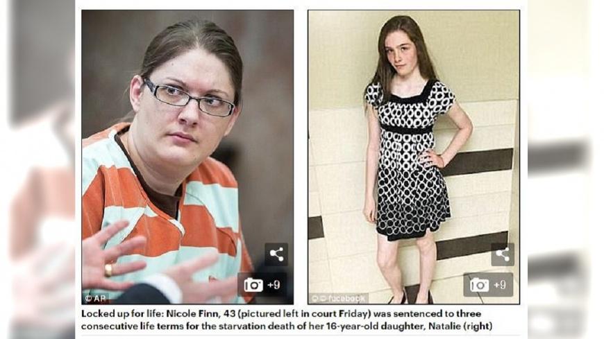 美國一名狠心母親虐死16歲養女,不但逼喝馬桶水還不給食物吃,遭法院判處3次終身監禁。(圖/翻攝自每日郵報) 餵馬桶水還釘死窗戶 狠母虐死16歲女兒