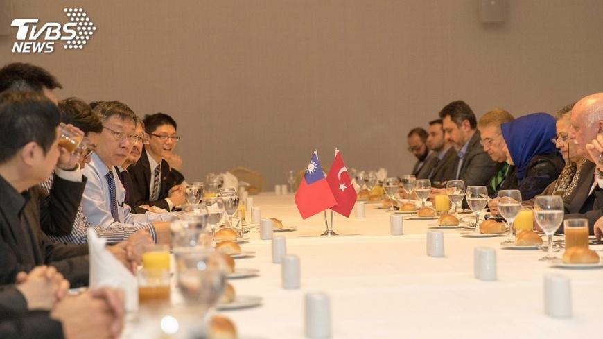 圖/中央社 柯文哲抵伊斯坦堡 談台北蓋第3座清真寺
