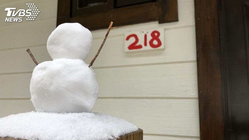 圖/中央社 一夜降雪! 司馬庫斯成雪國世界