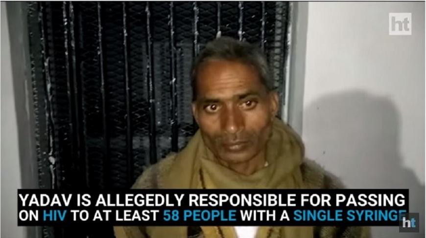 印度一名冒牌醫師替村民注射時,針頭都不曾更換,導致該村至少有58人感染愛滋。(圖/翻攝自YouTube) 印度冒牌醫師用同一針頭幫注射 害58村民染愛滋