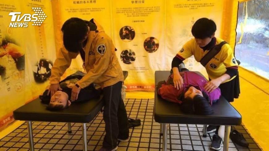 圖/TVBS 怕更大地震!災民心慌 民間團體助抒壓