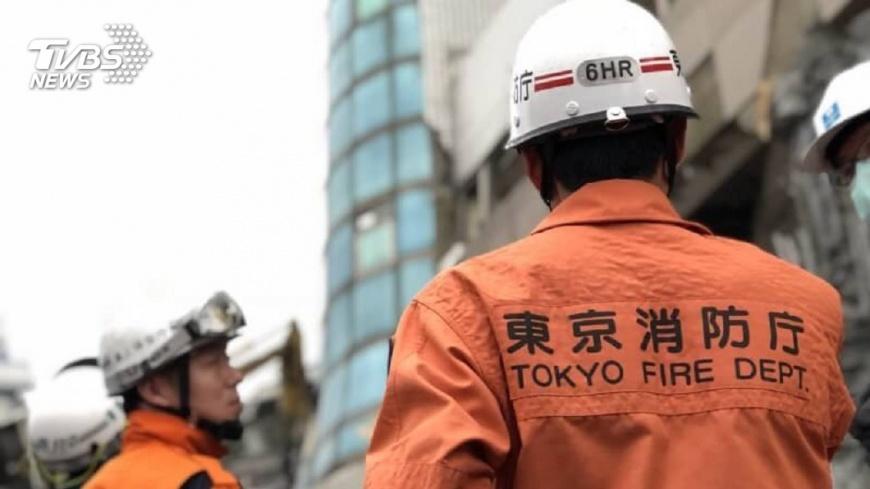 圖/TVBS 有你真好!無名英雄前進災區 日搜救隊抵台援助
