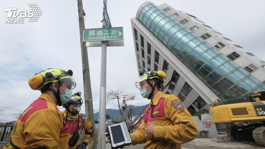 圖/中央社 同樣強震樓塌傷亡 花蓮美濃餘震差逾10倍