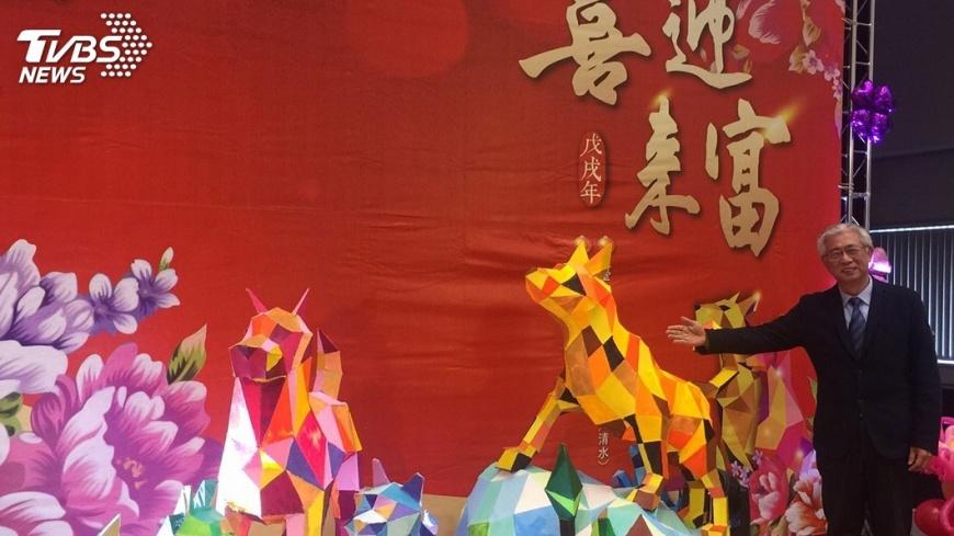 圖/中央社 中台灣元宵燈會 日本平川市送睡魔小提燈