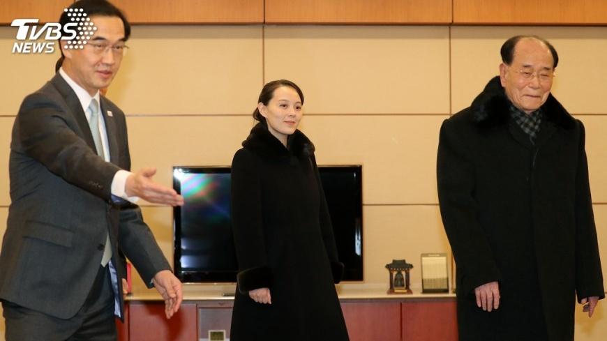 圖/達志影像美聯社 金正恩胞妹抵南韓 笑靨配黑大衣吸睛